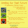 EVENT: Seeding our Food Future September 24th