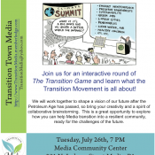 Event: TTM – Imagine a world without petroleum Tuesday, July 26th, 7PM