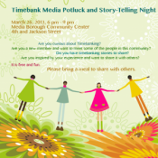 Timebanking Community Potluck March 26, 2013 6PM