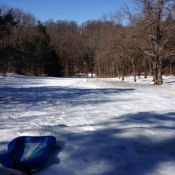 Sledding conditions at Glen Providence Park: Awesome