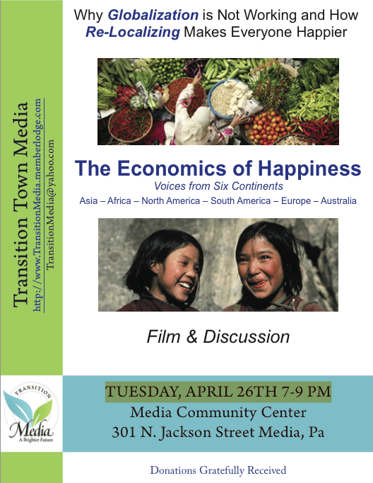 The Economics of Happiness Flyer (from Transition Town Media)