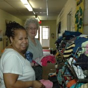 Volunteers working at First United Methodist Chirch