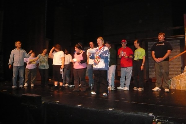 """Members of """"The State Street Miracles"""" rehearse"""