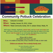 EVENT: Transition Town Media/Media Eats Local Community Potluck January 24th 6PM
