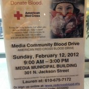 Four reasons to attend the Blood Drive at the Media Community Center, February 12th, 2012