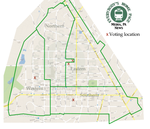 Media Borough District Map - click to enlarge