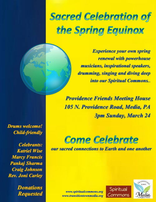 Sacred Celebration of the Spring Equinox Flyer (click to enlarge)