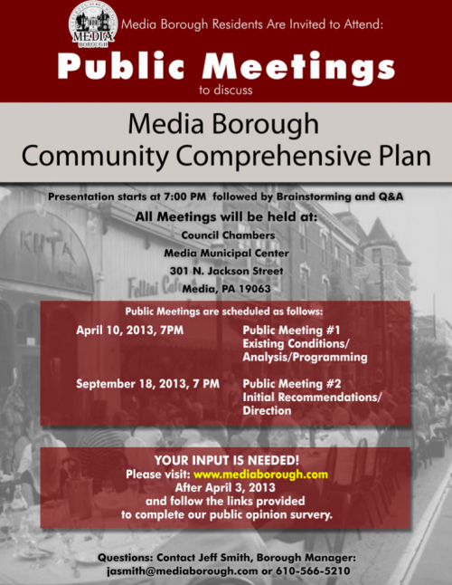 Flyer for the upcoming public meeting. (Click to enlarge)