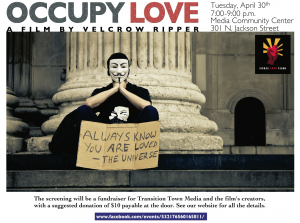 Occupy Love Flyer (click to enlarge)