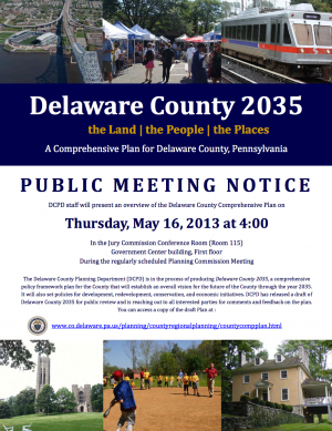 Delaware County Comprehensive Plan Draft presentation Flyer