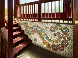 Claire Brill Mosaic at RoseTree Day School in Media, PA