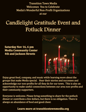 Flyer for Candlelight Gratitude Event (click to enlarge)