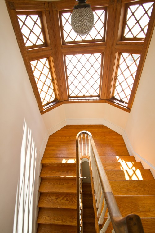 Community Arts Center's Designer Show House, Harvard House, at 718 Harvard Avenue, Swarthmore, PA, features original interior accents like hardwood floors and custom woodwork.