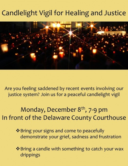 Candlelight Vigil Delco Dec 8 2014