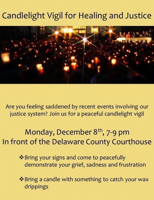 Candlelight Vigil Delco Dec 8 2014